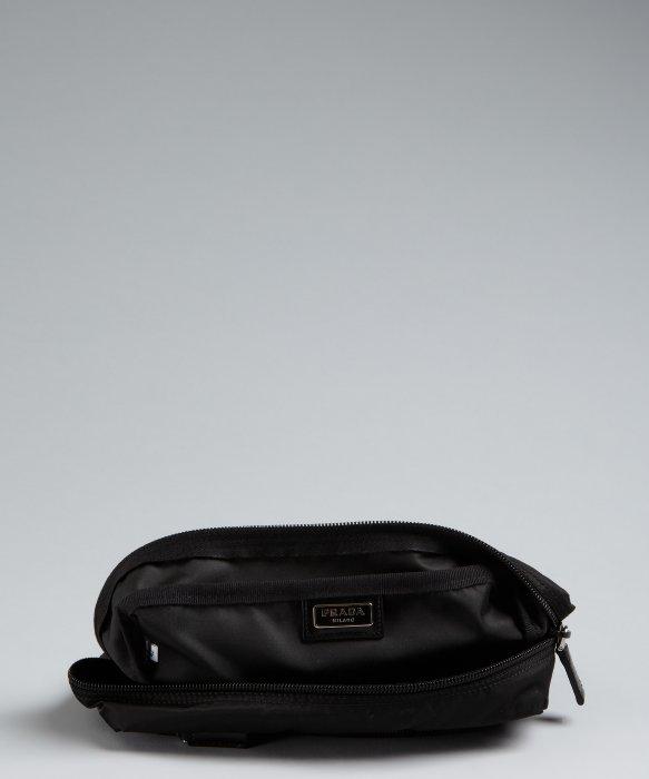 8058658725 Prada Black Nylon Large Cosmetic Case in Black