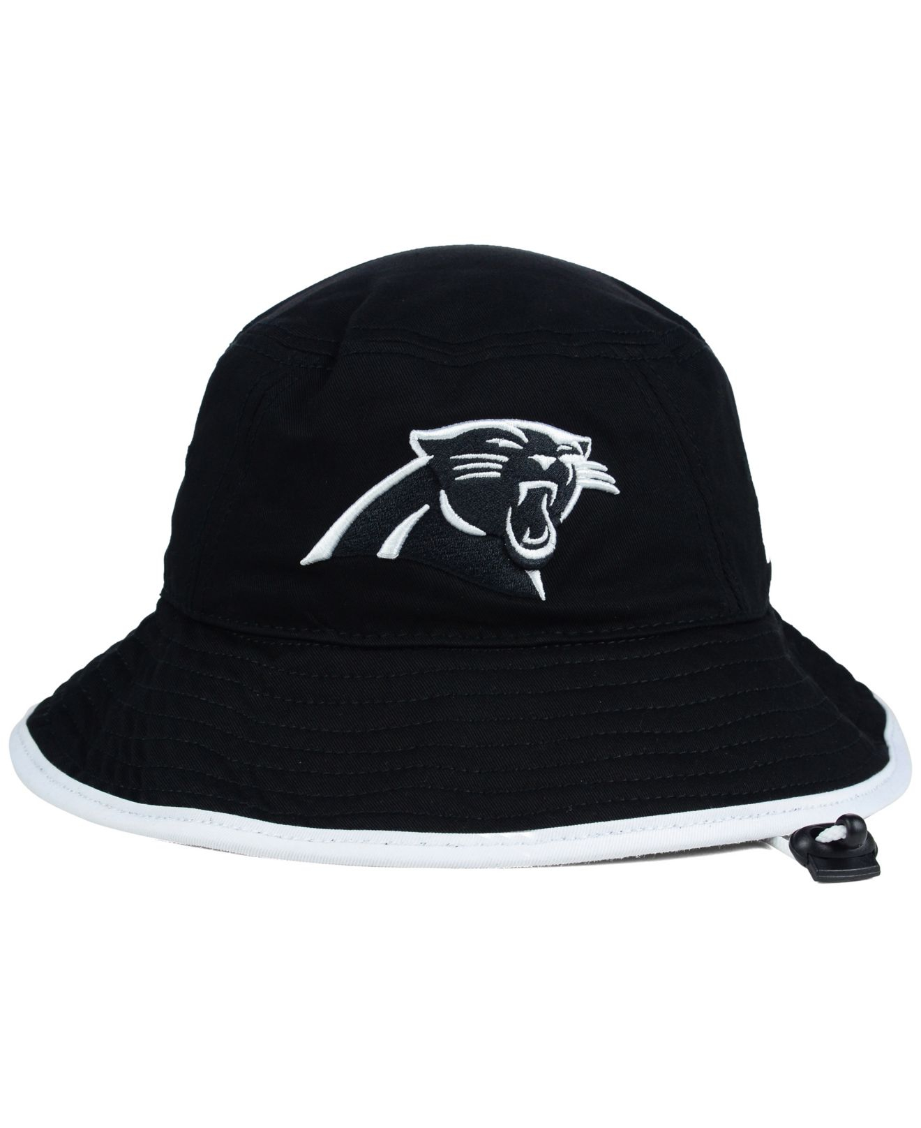 f89c05c695e ... inexpensive lyst ktz carolina panthers nfl black white bucket hat in  black 3e6c1 7358f