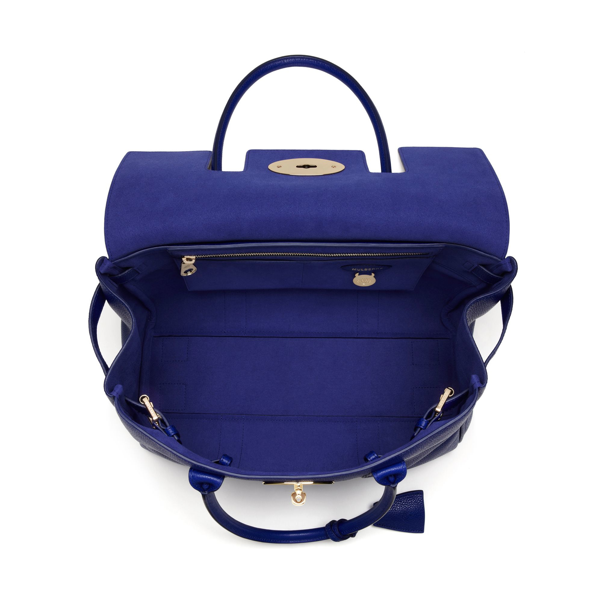 fa1a414f5f86 Mulberry Bayswater Leather Bag in Blue