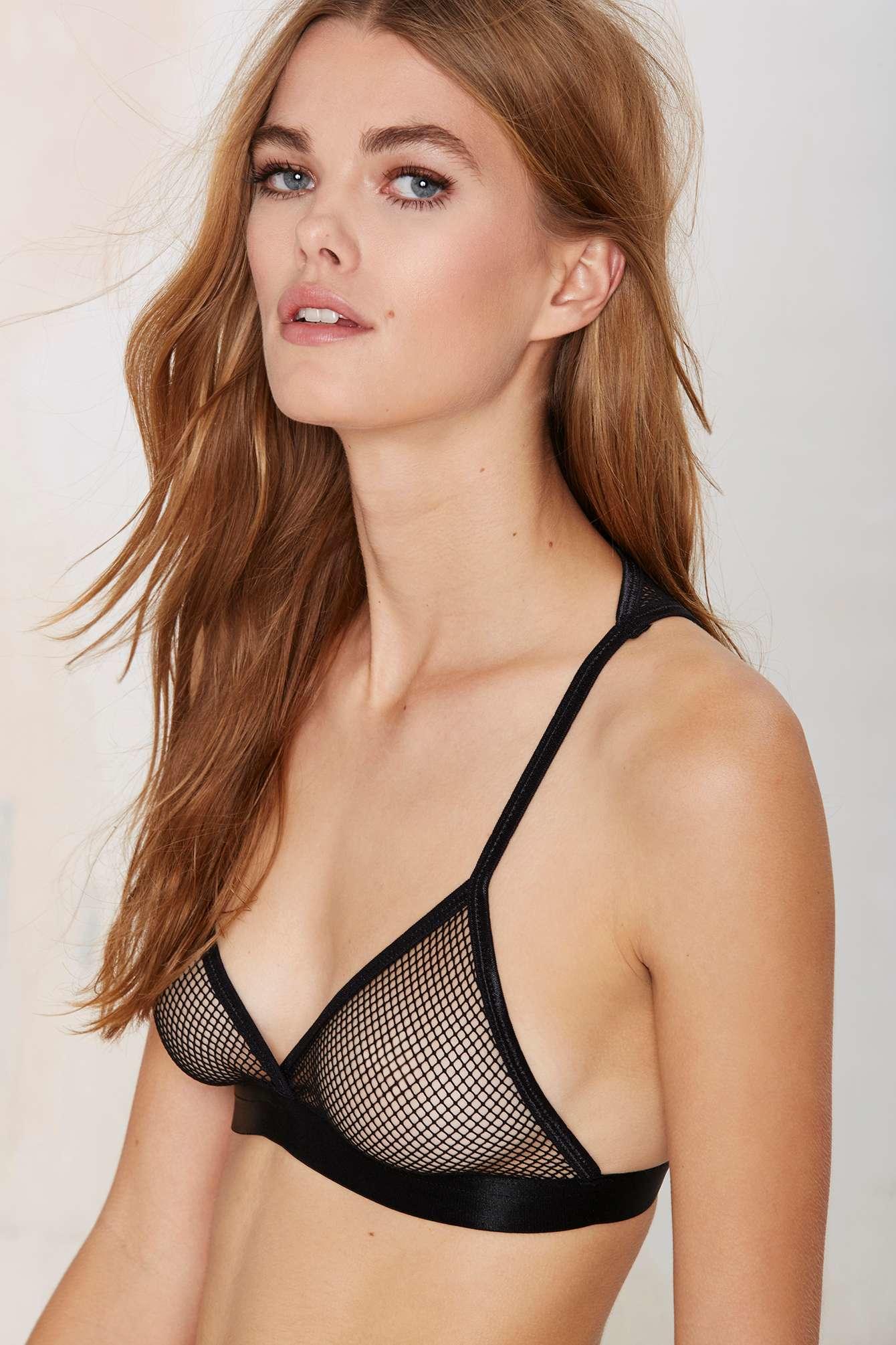 b43fb0c79c Lyst - Nasty Gal Net Your Girl Bralette in Black