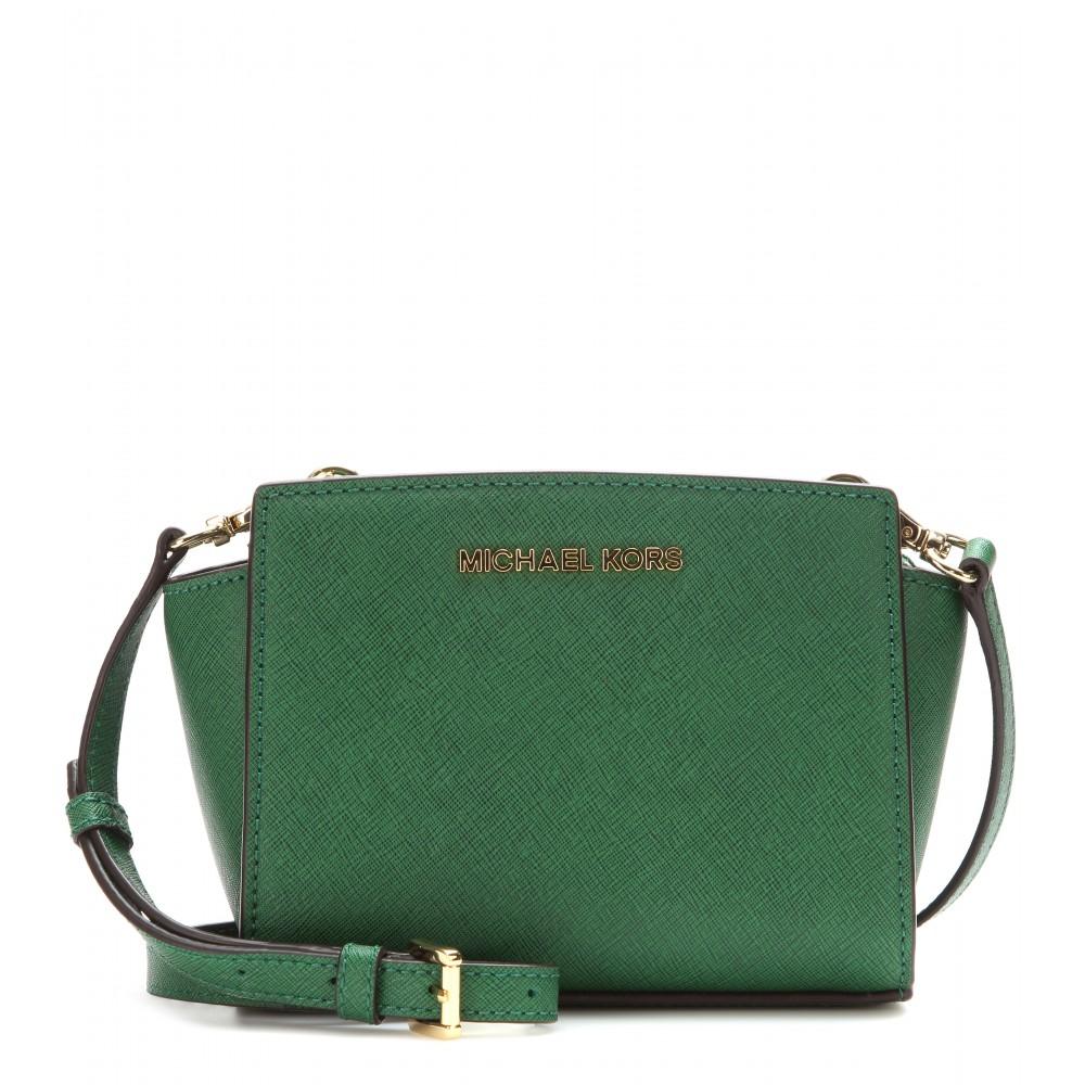 6e6b966b705d ... where can i buy lyst michael michael kors selma mini messenger leather  shoulder f1b00 3c123