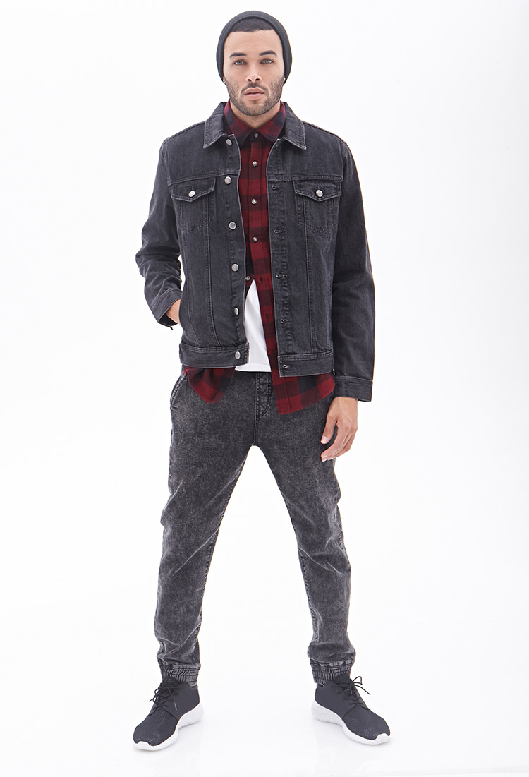 Mens Gray Denim Jacket - JacketIn