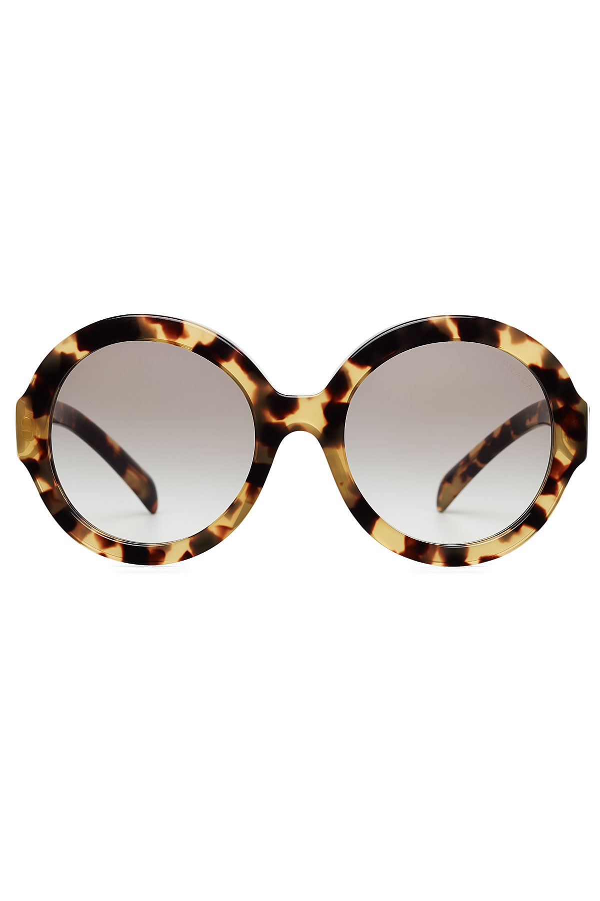 9f2c3a910479 ... discount lyst prada pr06rs oversize round sunglasses animal prints in  brown caf96 3c19a