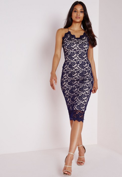 Navy blue midi dress uk
