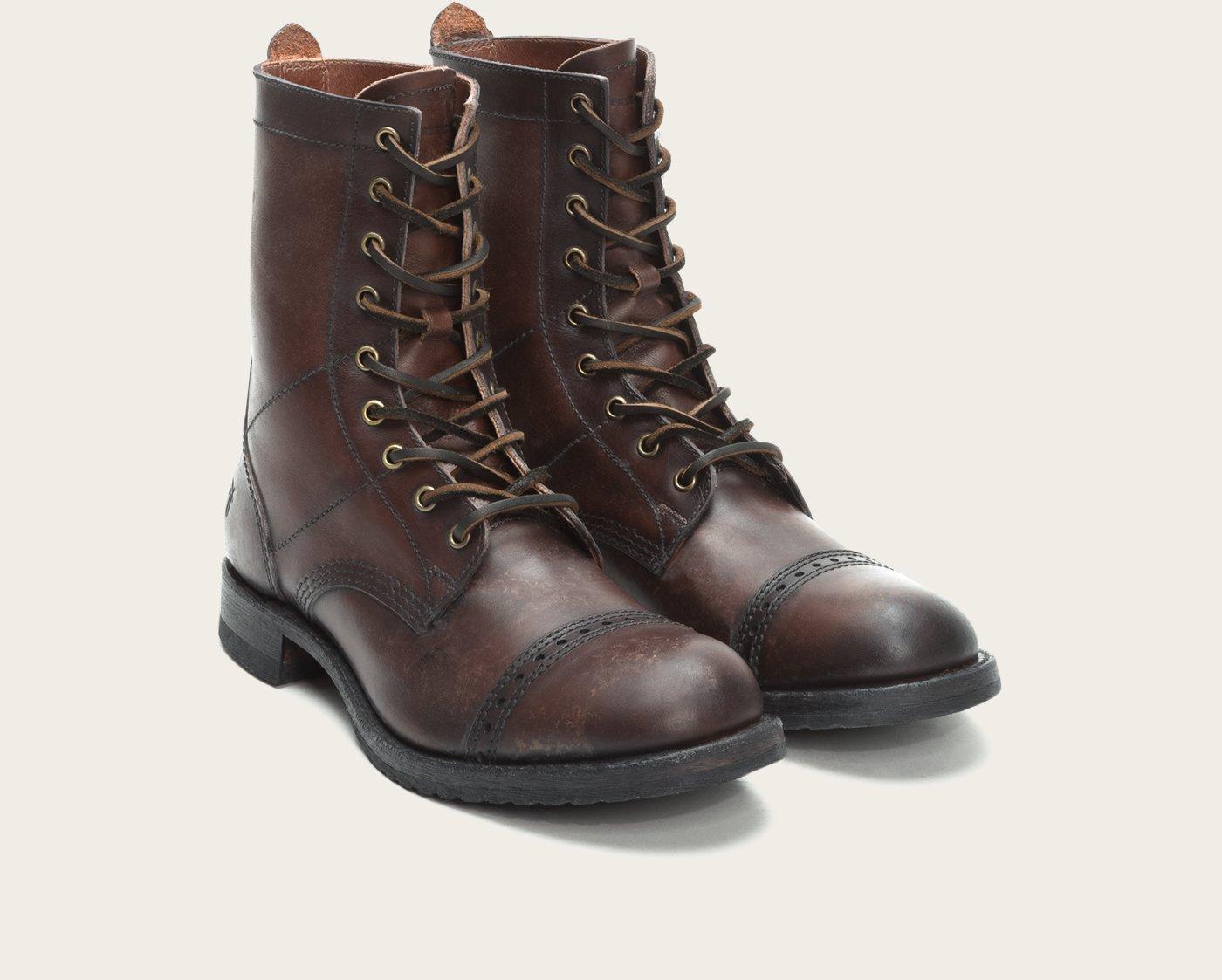 frye logan jump boot in brown for brown lyst