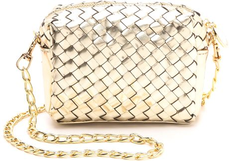Deux Lux Sunset Mini Cross Body Bag Gold In Gold Lyst