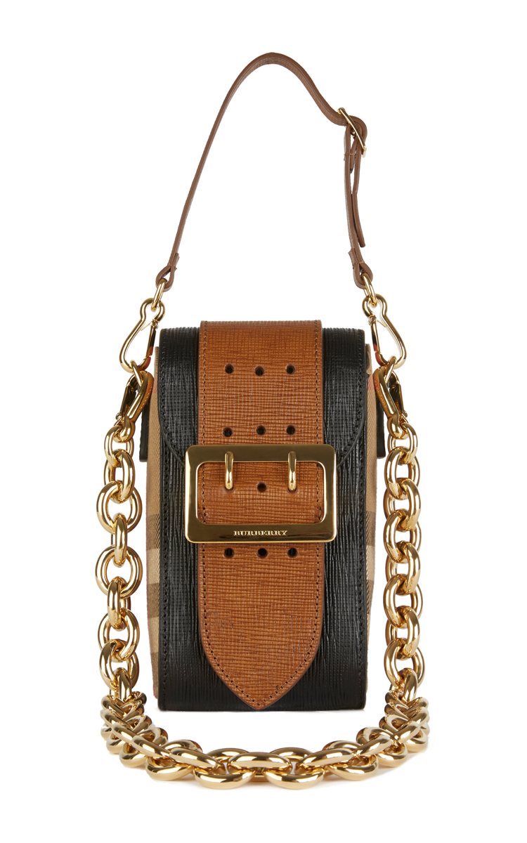 Burberry Prorsum Oblong Belt Bag In Black Leather And