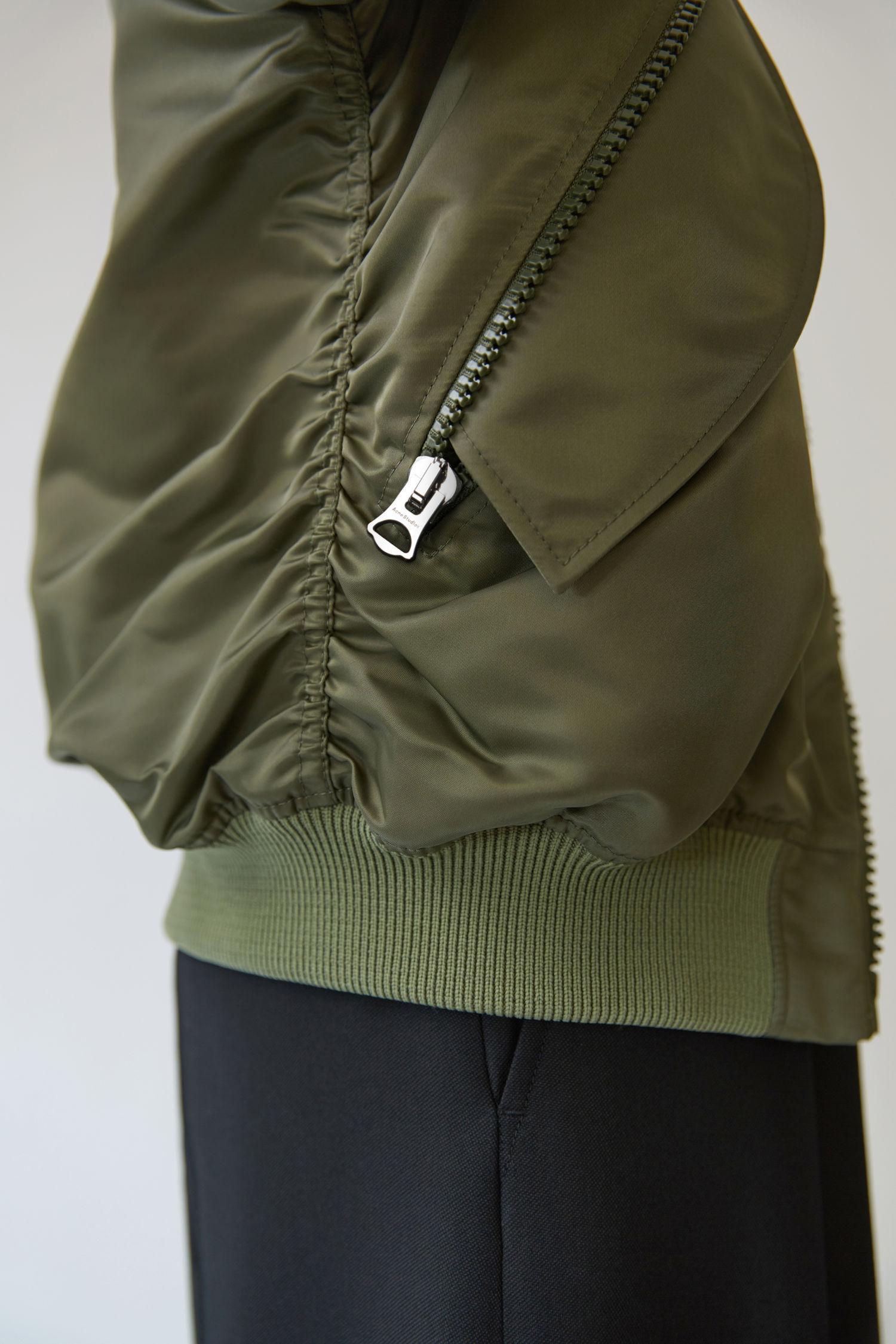 Acne Clea Bomber Khaki Green In Green Lyst