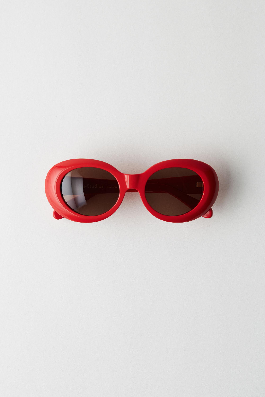 85238ba1ee Lyst - Acne Studios Mustang Red brown Oval Sunglasses in Brown