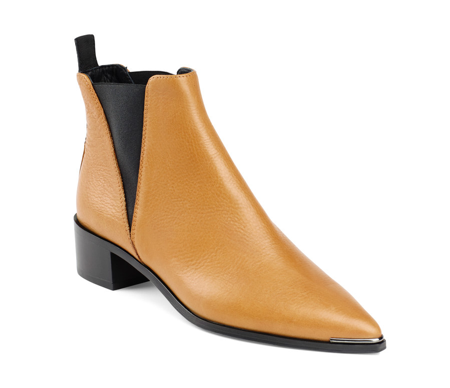 acne studios jensen leather chelsea boots in orange lyst. Black Bedroom Furniture Sets. Home Design Ideas