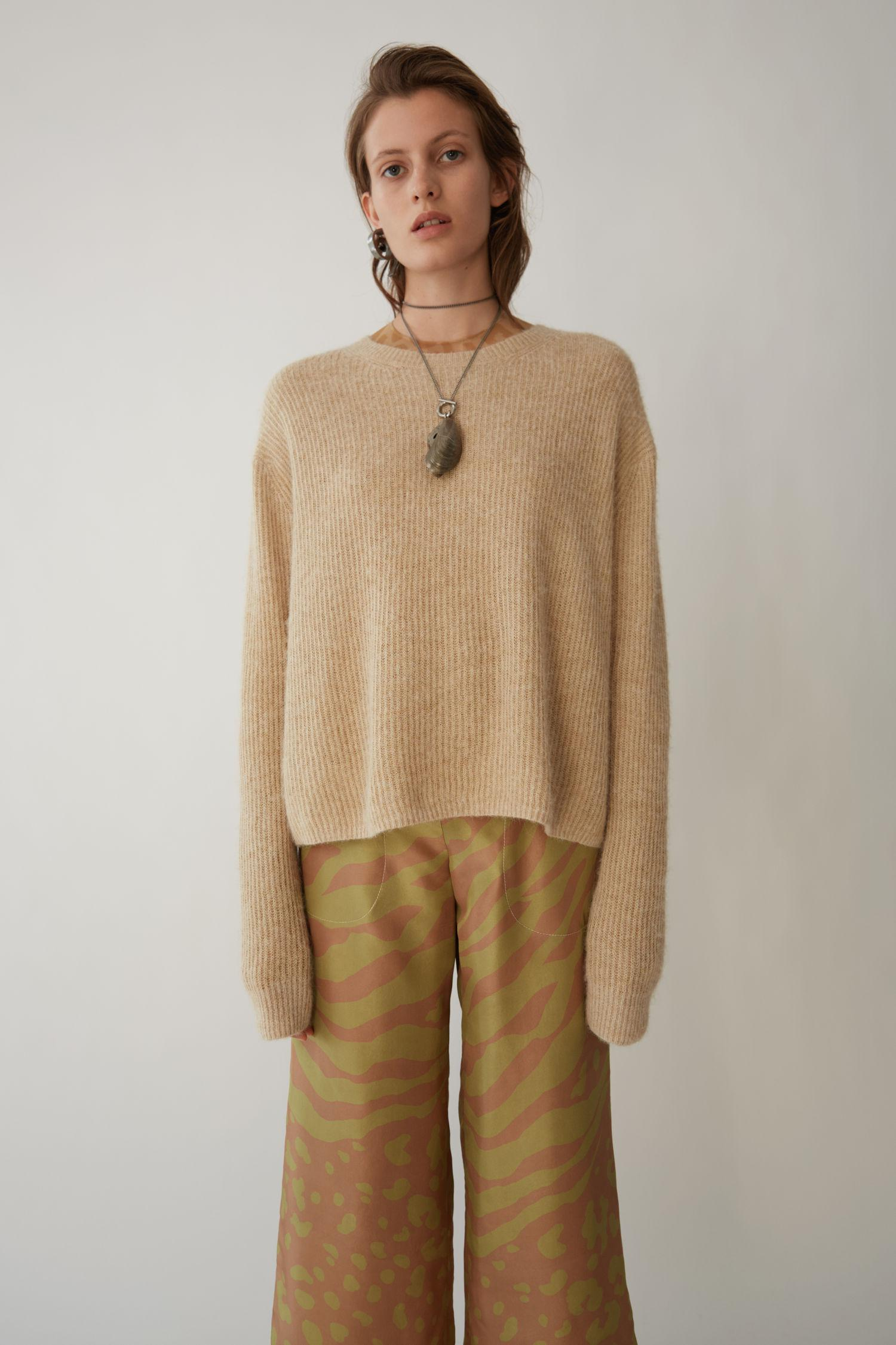 Acne Studios. Women's Natural Alpaca Blend Sweater ...
