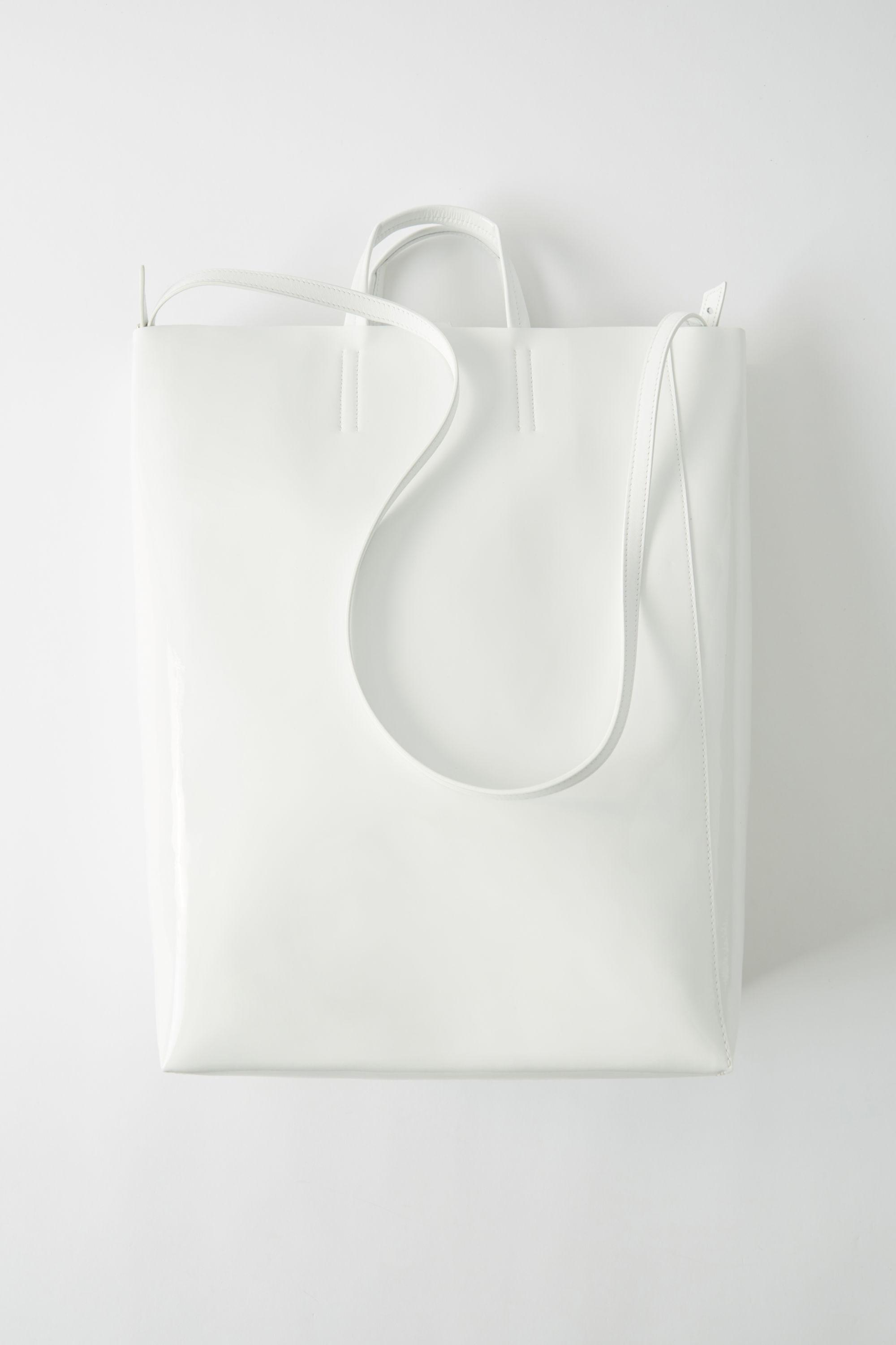6f299b3bfb0 Acne Studios Baker Patent White Large Patent Tote Bag in White - Lyst