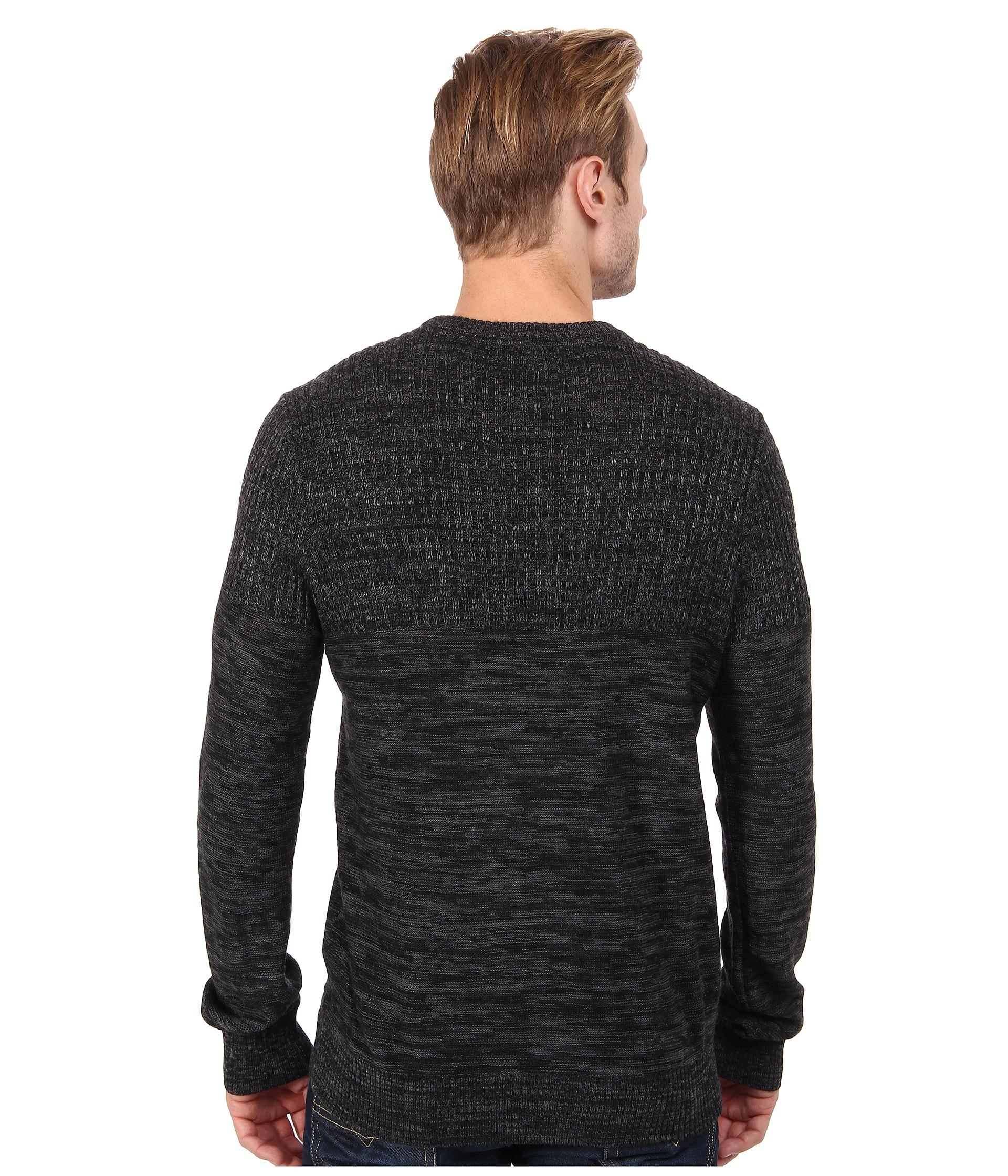 calvin klein jeans parallel knit stripe crew neck sweater. Black Bedroom Furniture Sets. Home Design Ideas