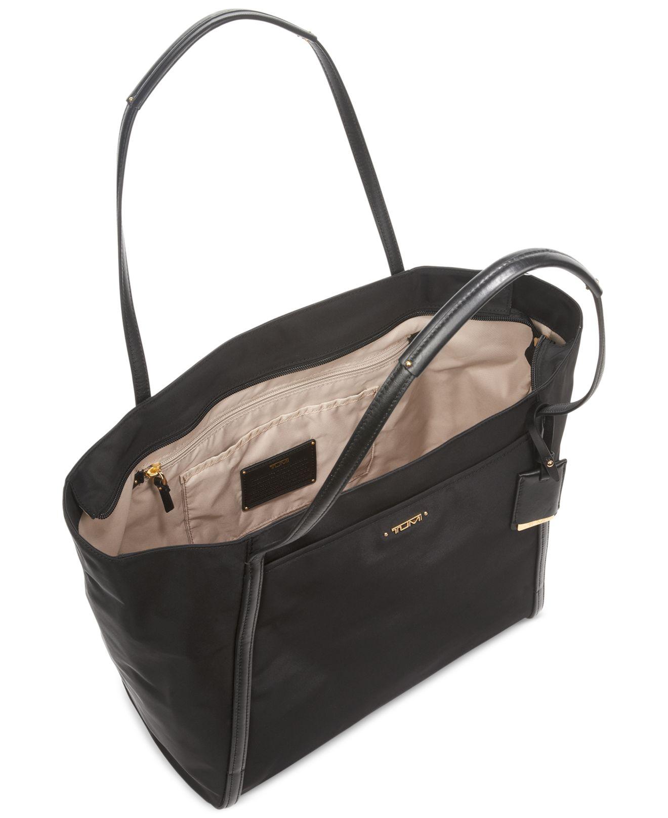Tumi Voyageur Leather Carolina Tote (Black) Tote Handbags iF1eQt