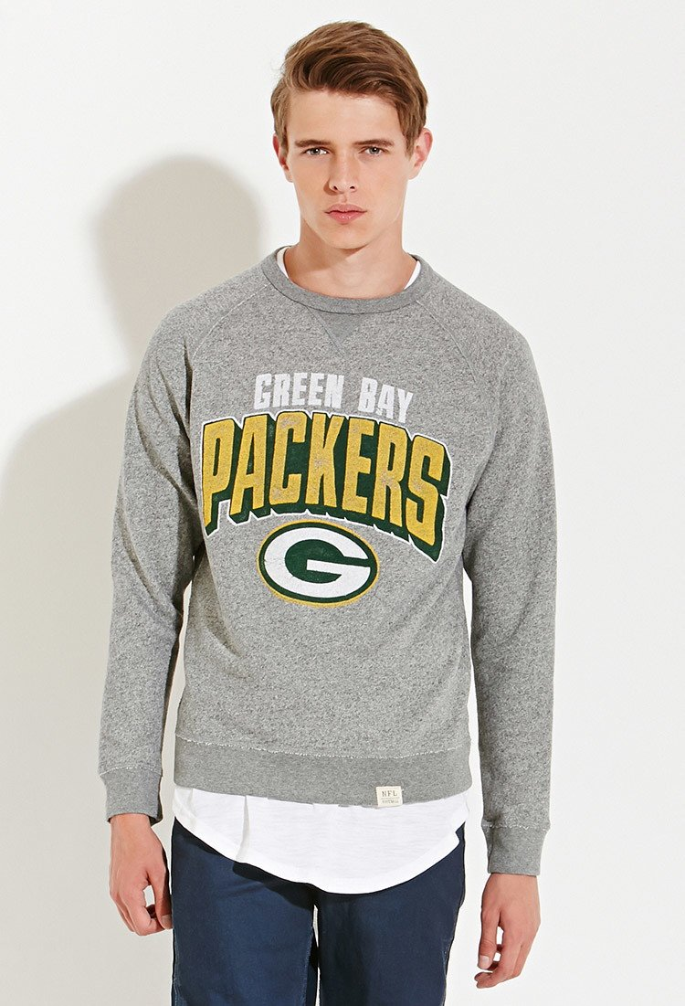 Forever 21 Junk Food Nfl Green Bay Packers Sweatshirt in Gray for ...