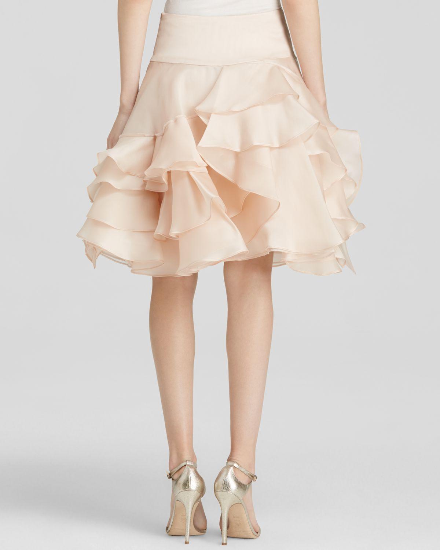 746c6bcb543 MILLY Skirt - Tara Satin Organza Full in Pink - Lyst