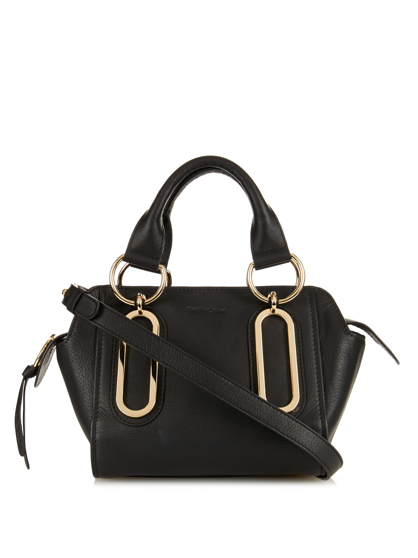 Lyst See By Chlo 233 Paige Mini Leather Shoulder Bag In Black