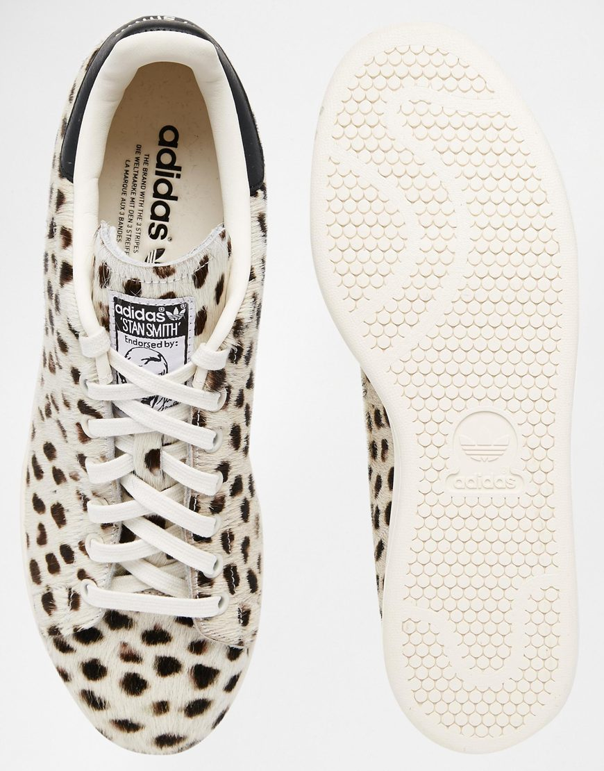 9bb884283675a0 Lyst - adidas Originals Originals Cheetah Print Pony Stan Smith ...