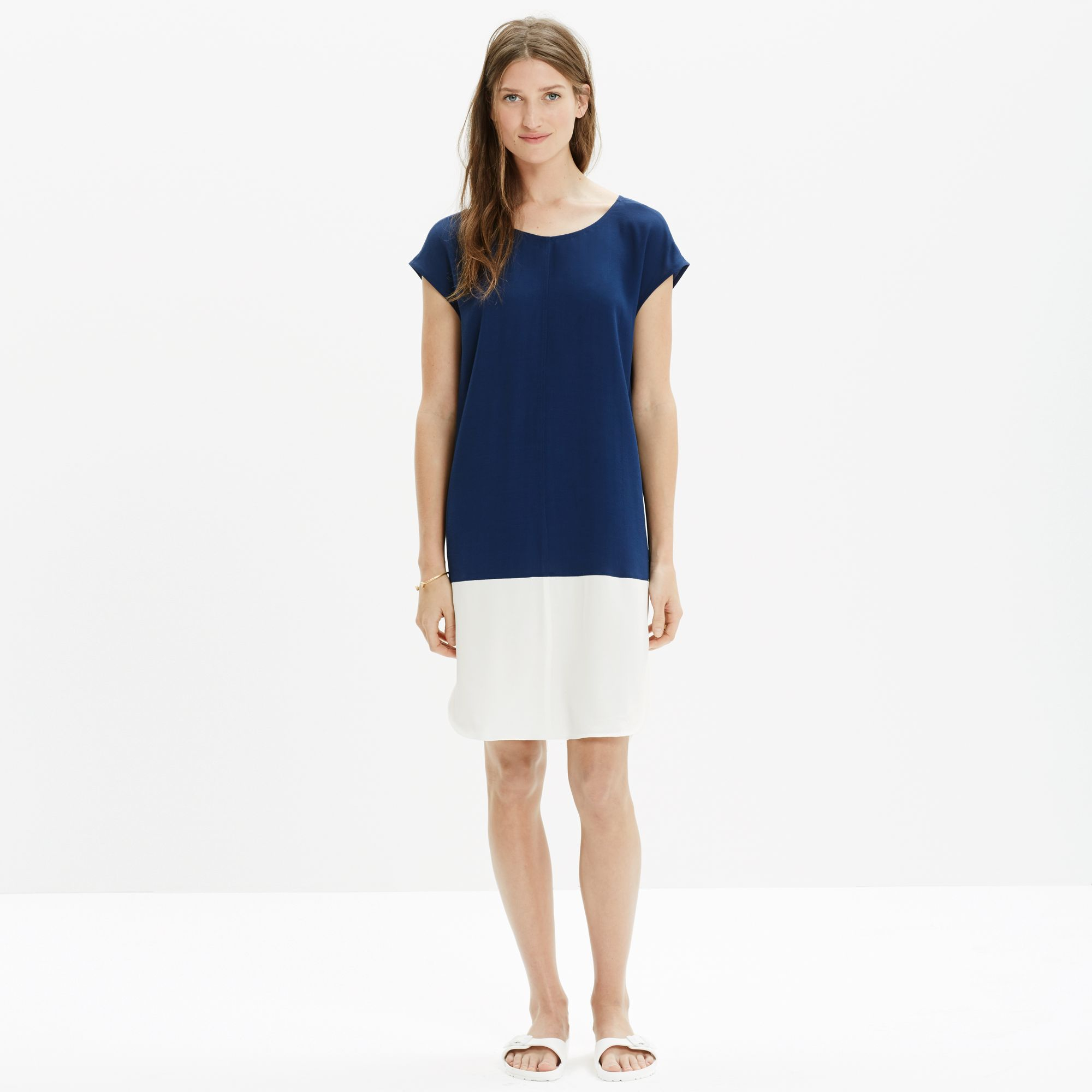 beb45e5e6e4 Madewell Layout Tunic Dress In Colorblock in Blue - Lyst