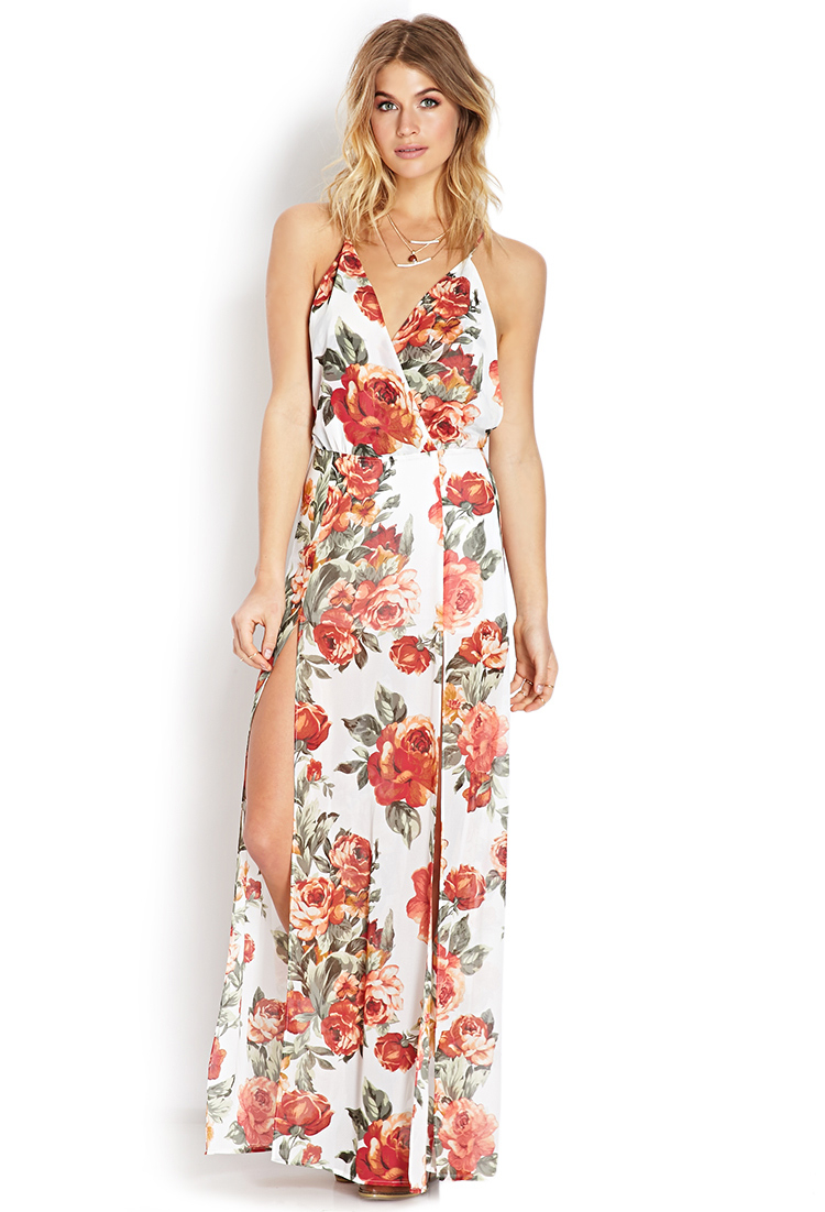 92f7ca2be1d Floral Print Wrap Dress Forever 21 - Gomes Weine AG