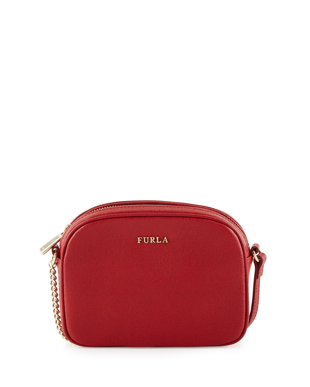 Lyst - Furla Miky Mini Leather Crossbody Bag in Red 0aa1974920cf6