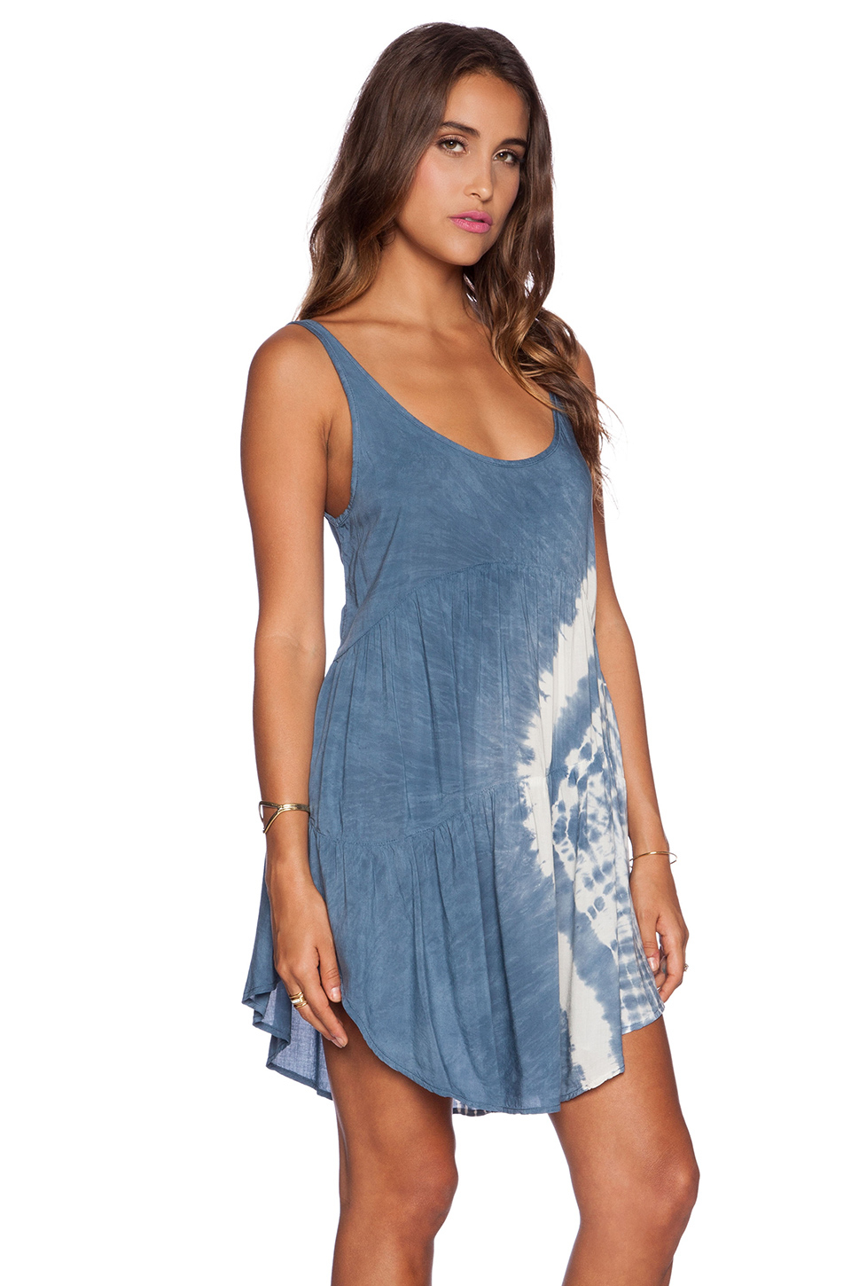 Lyst - Blue Life Baby Doll Tank Dress in Blue