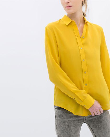 Zara Yellow Lace Blouse 7