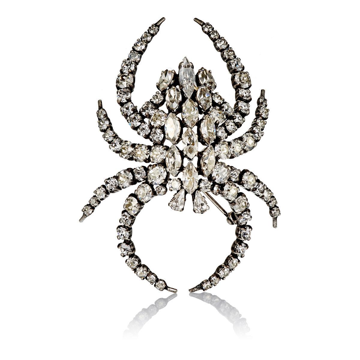 Moon crystal-embellished brooch Saint Laurent awMvTwxcN