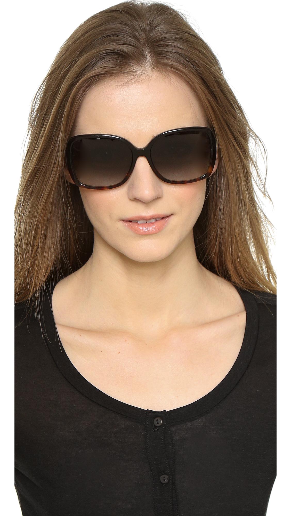 1d01de5b57920 Kate Spade Darilynn Sunglasses in Black - Lyst