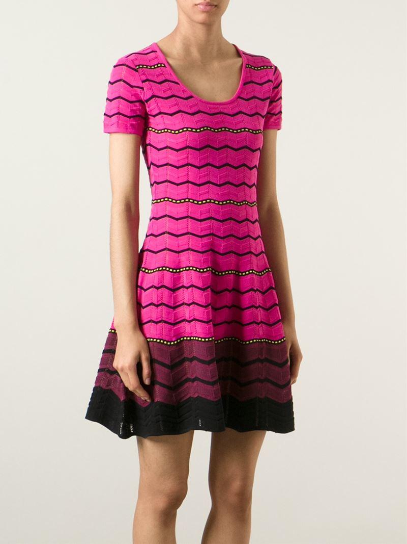 knitted dress - Pink & Purple Missoni CcwYfIgvT