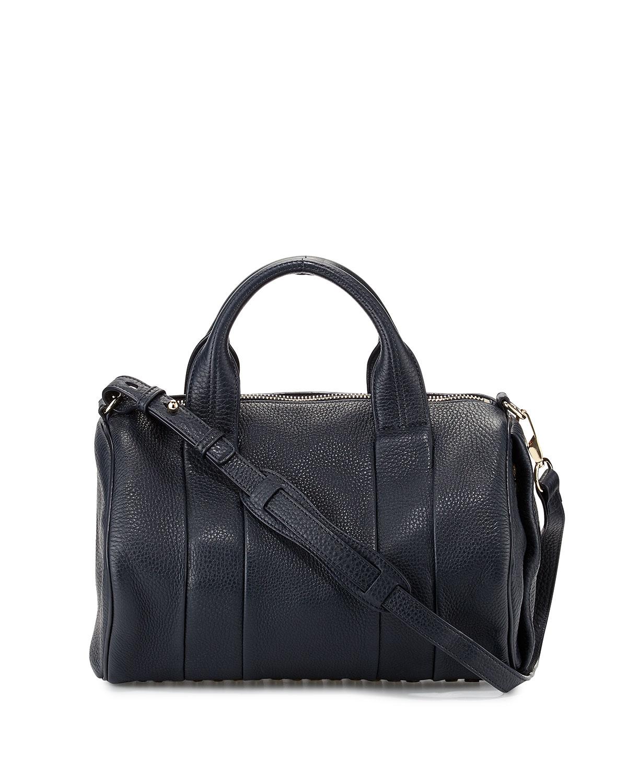 lyst alexander wang rocco leather duffel bag in black. Black Bedroom Furniture Sets. Home Design Ideas