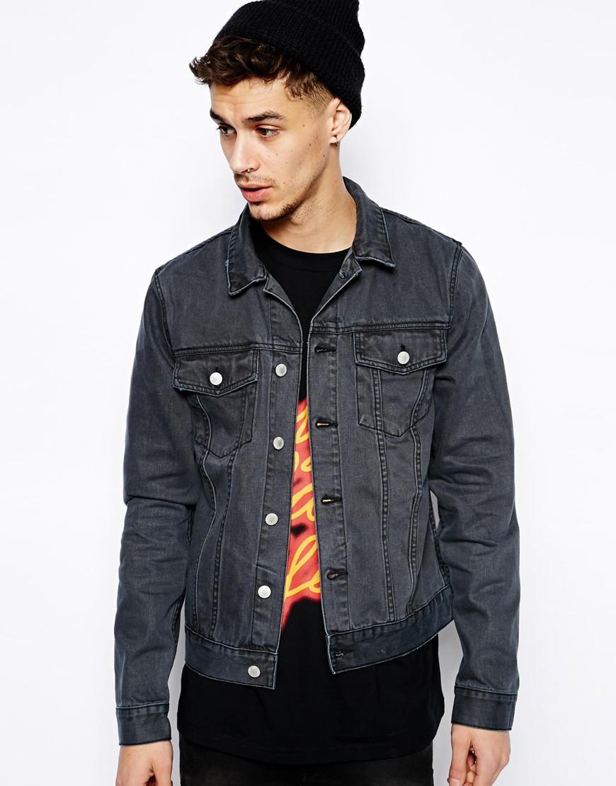 Cheap monday Denim Jacket in Black for Men | Lyst