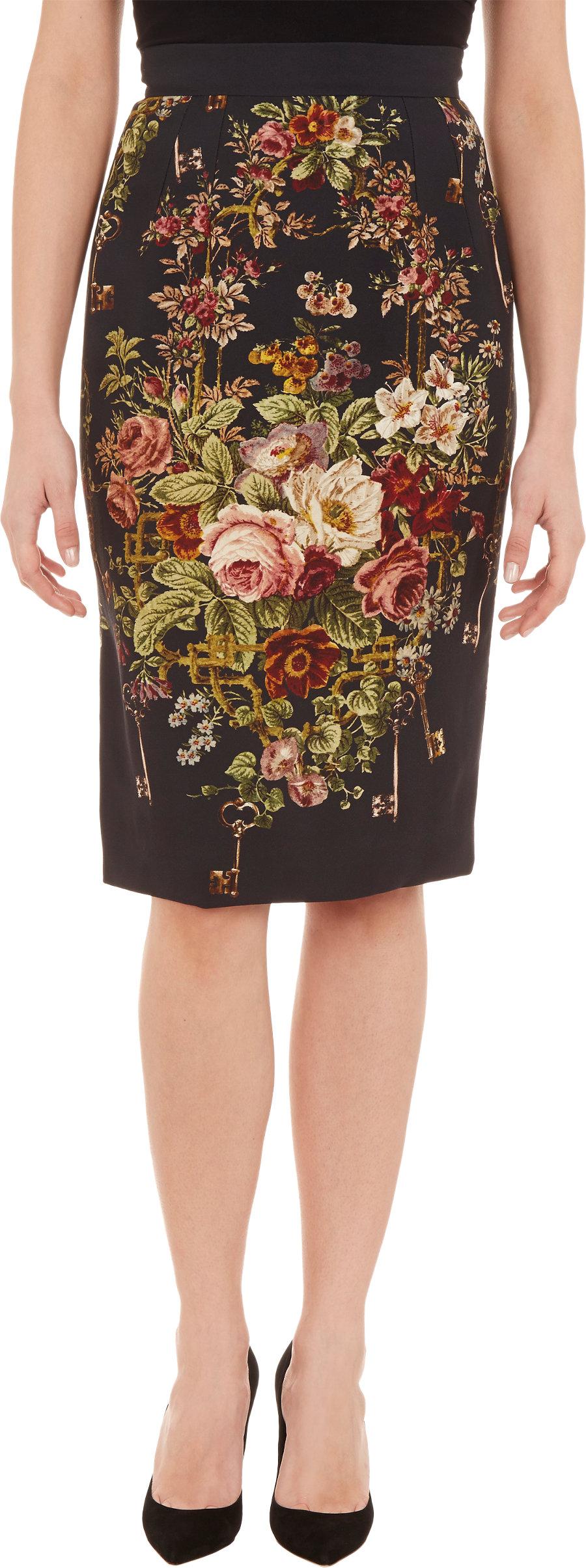 floral pencil skirt - photo #35