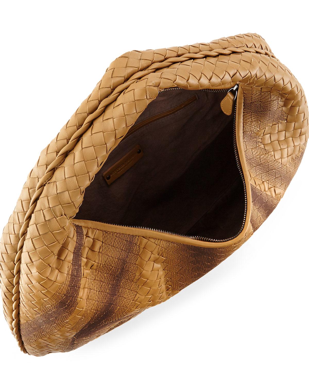 1002f92ab2 Lyst - Bottega Veneta Veneta Intrecciato Large Shadow Hobo Bag in Brown