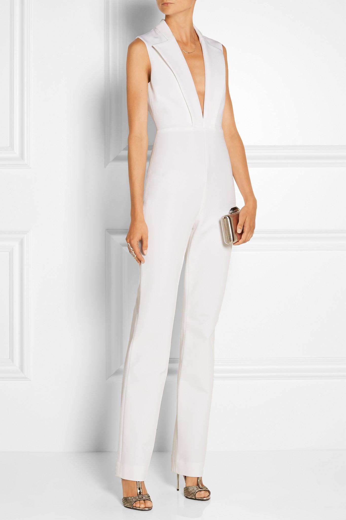 f93a1383d798 Cushnie et Ochs Stretch-woven Jumpsuit in White - Lyst