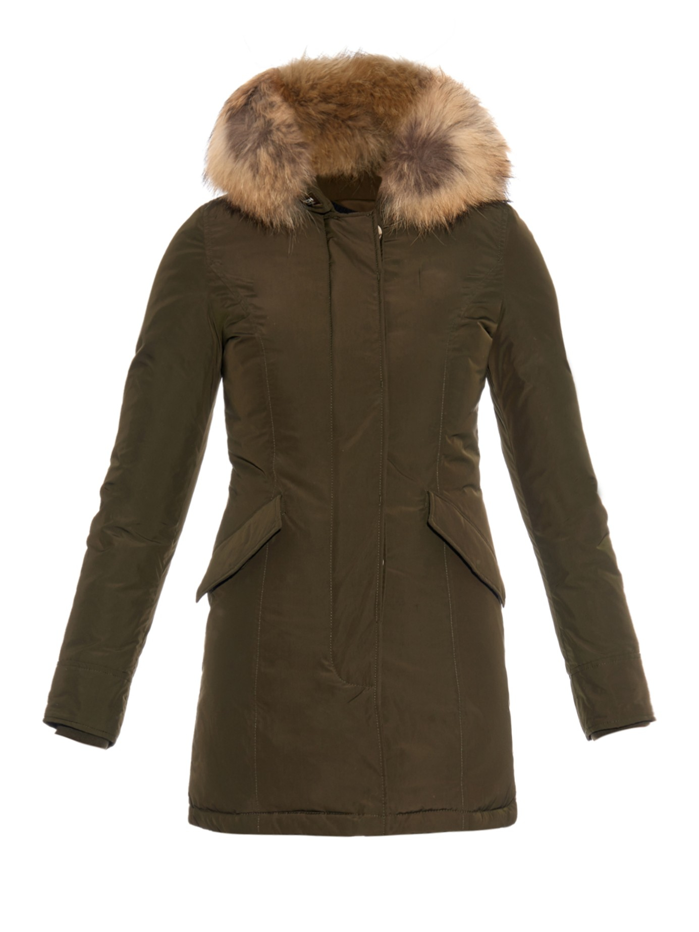 woolrich luxury arctic raccoon fur trimmed parka in. Black Bedroom Furniture Sets. Home Design Ideas