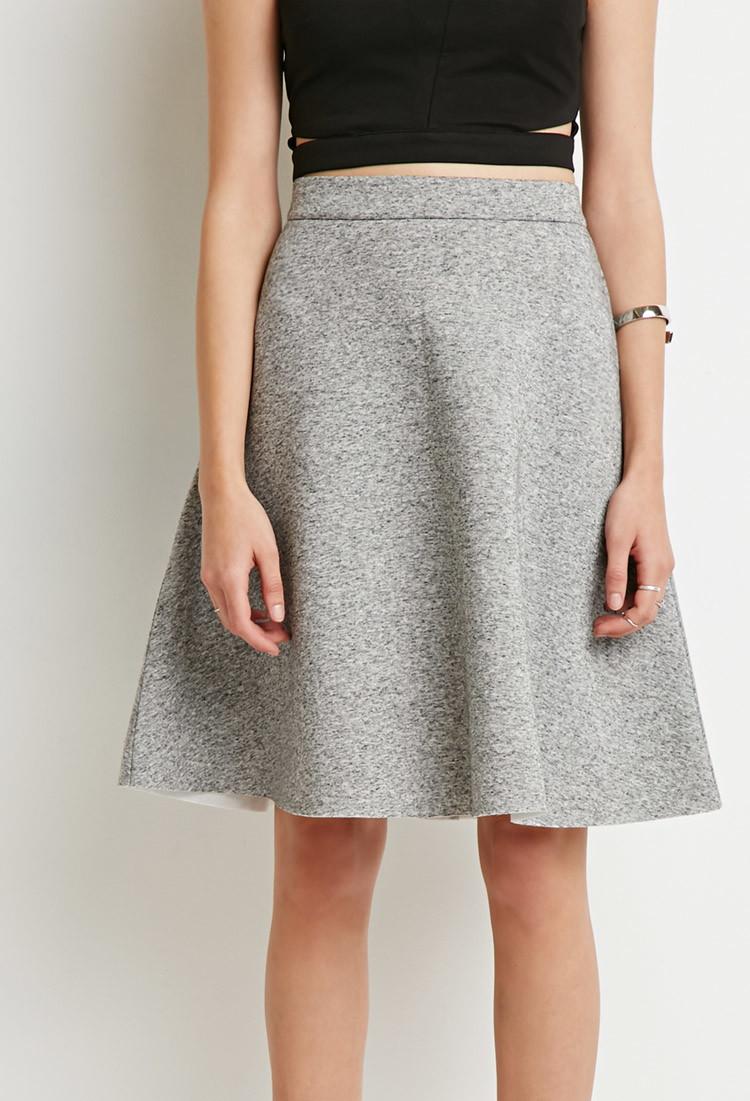 Gray A Line Skirt - Skirts