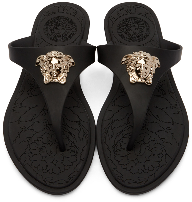 VERSACE Medusa Palazzo flip flops Sale Release Dates Free Shipping Prices Low Price Cheap Online Sale Hot Sale 9XfHL2