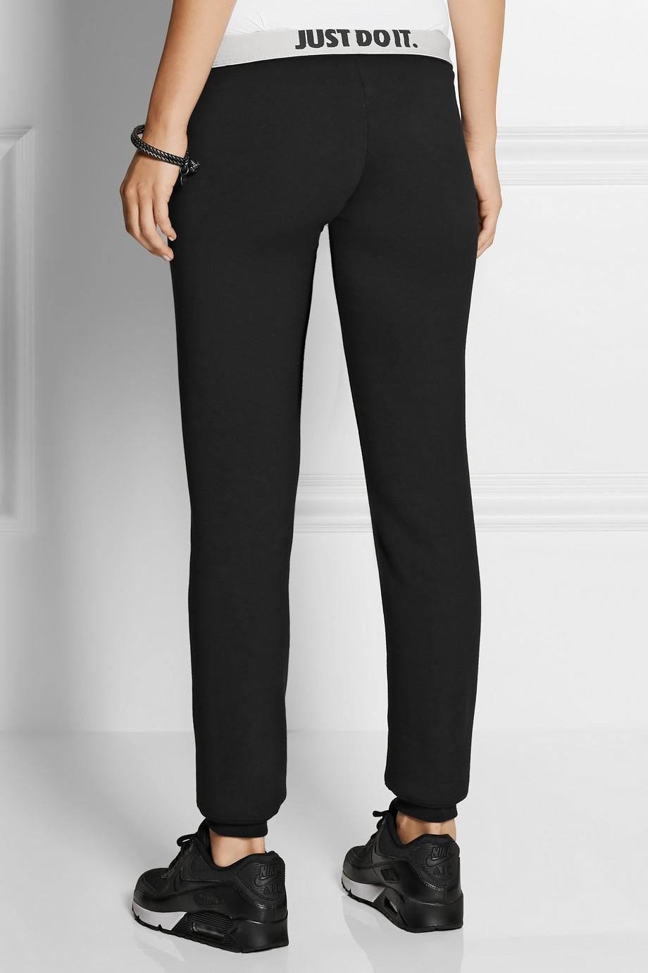Model Nike Tech Knit Cottonblend Track Pants In Gray  Lyst