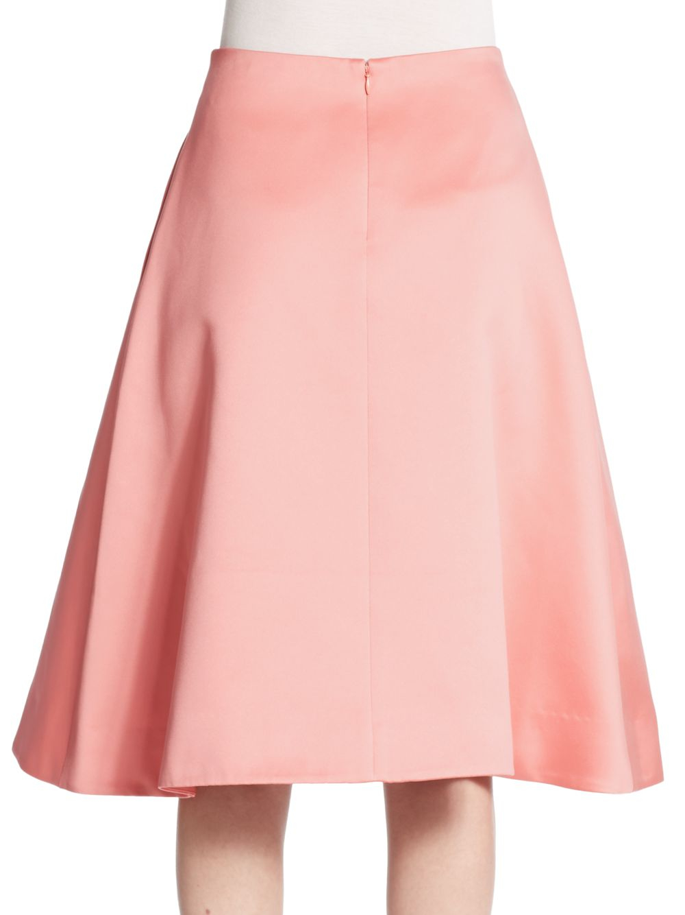 Tibi Satin A-line Skirt in Pink | Lyst