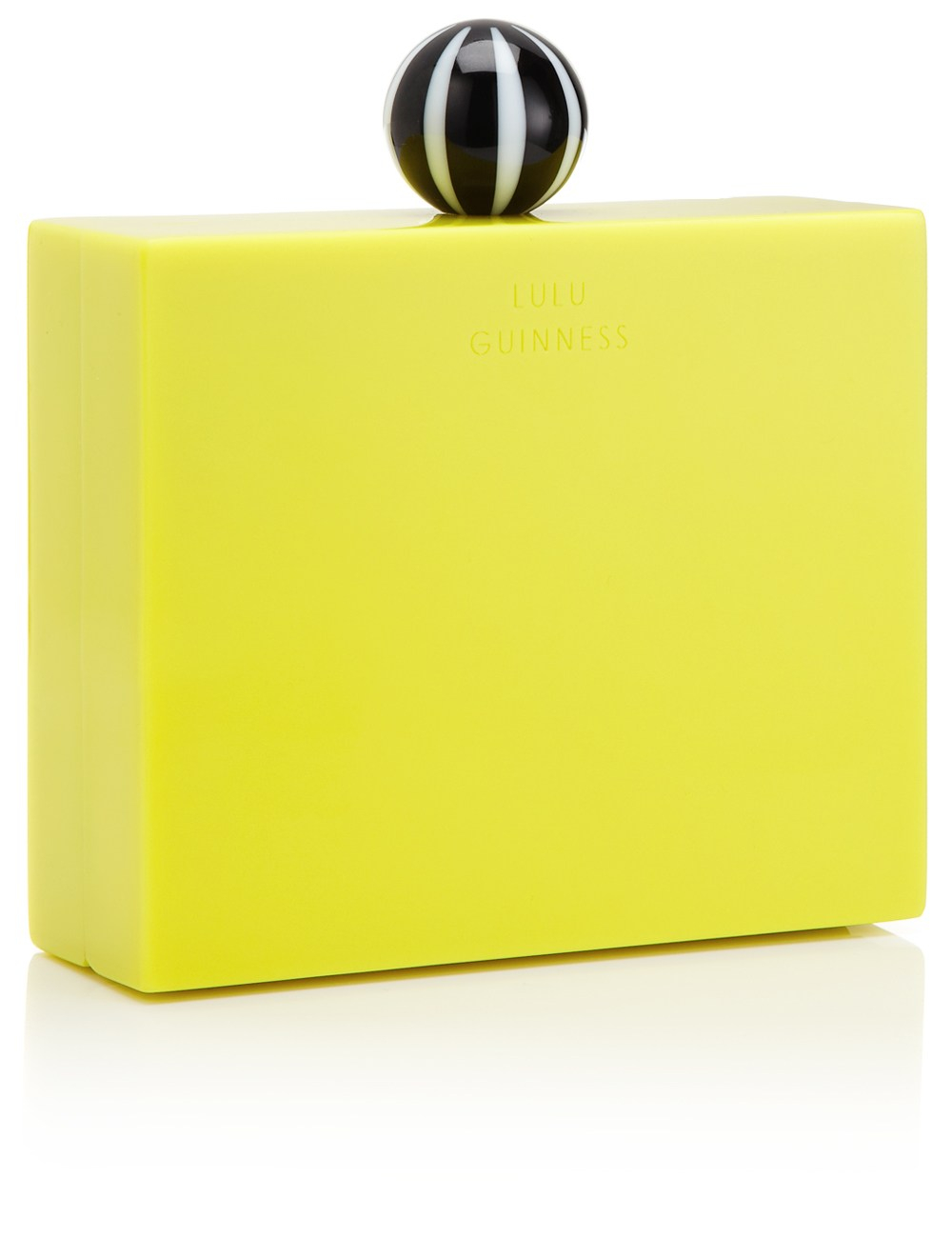 Lulu guinness Chartreuse Perspex Chloe Clutch in Yellow ...