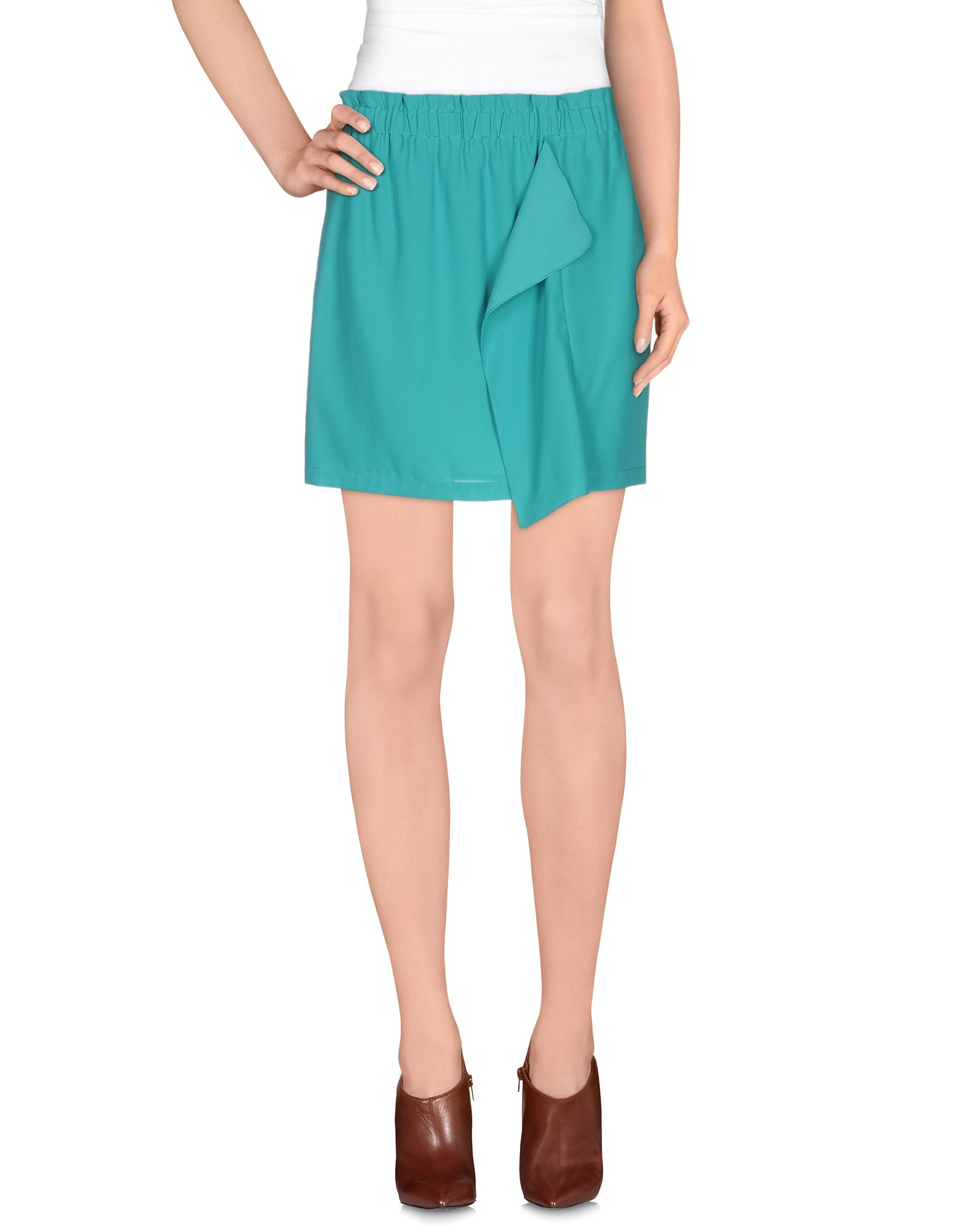 pinko mini skirt in blue turquoise lyst