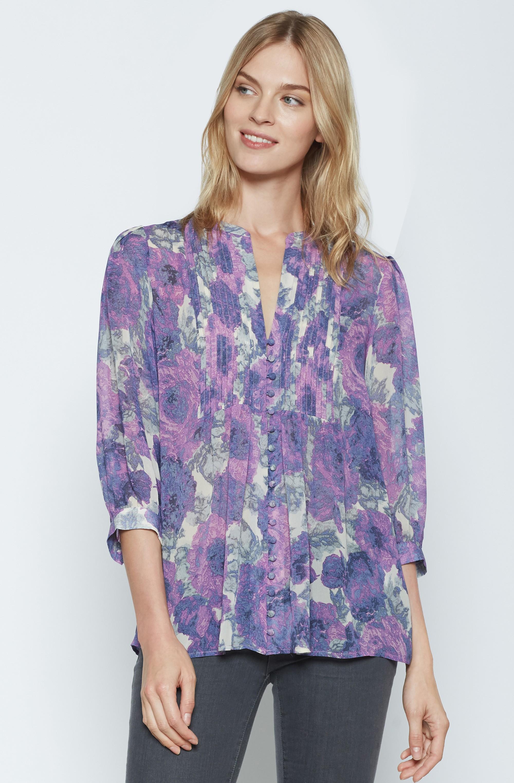 c45d918d81f45 Lyst - Joie Datev Silk Blouse in Purple