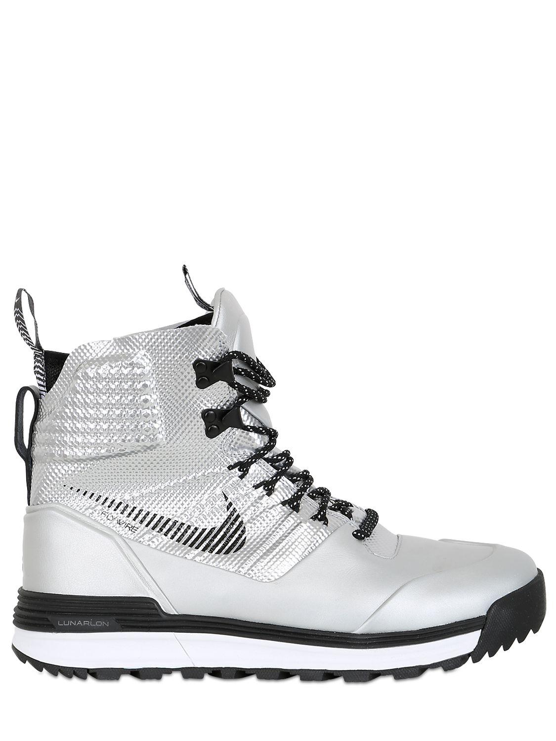 quality design 2418f dab6a Lyst - Nike Lunarterra Arktos Qs Superbowl Sneakers in Metallic for Men