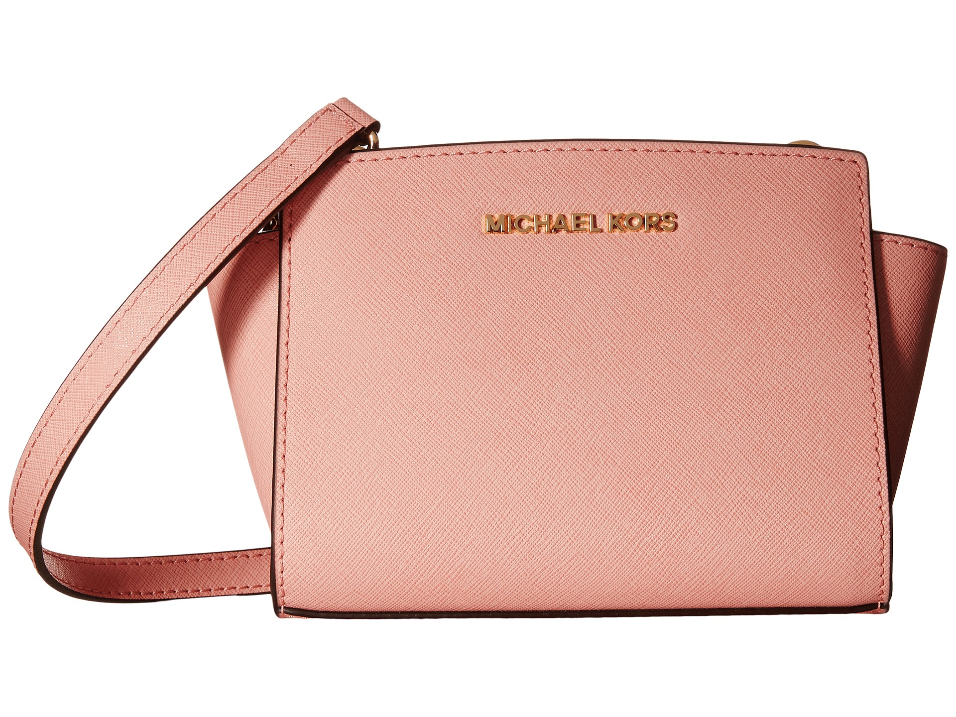 7adfd5264dc054 ... sweden lyst michael michael kors selma mini messenger in pink cacb8  01737