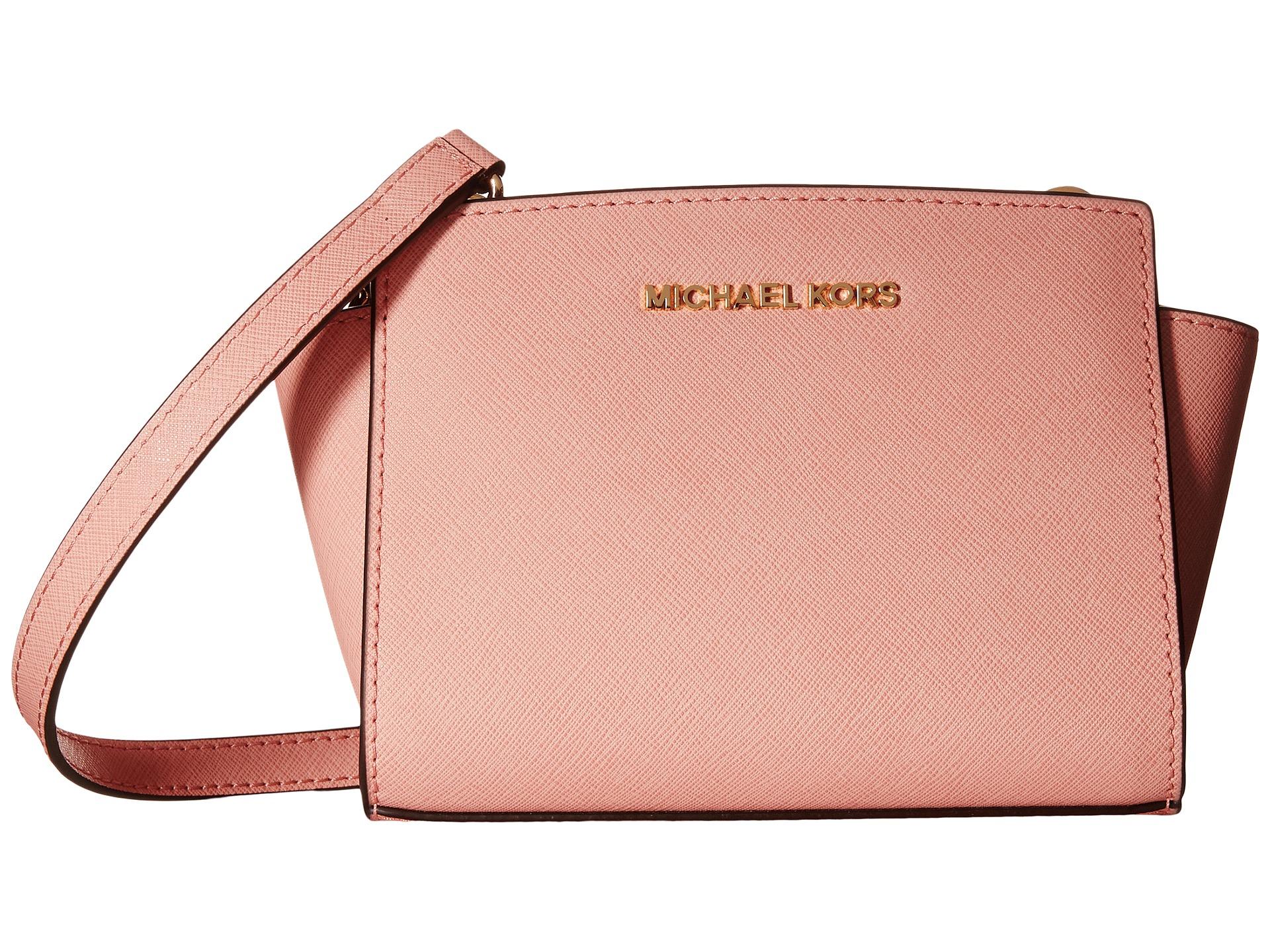 e1a6f5363650 sale michael kors medium selma 1841f 32a2a  sweden lyst michael michael  kors selma mini messenger in pink cacb8 01737