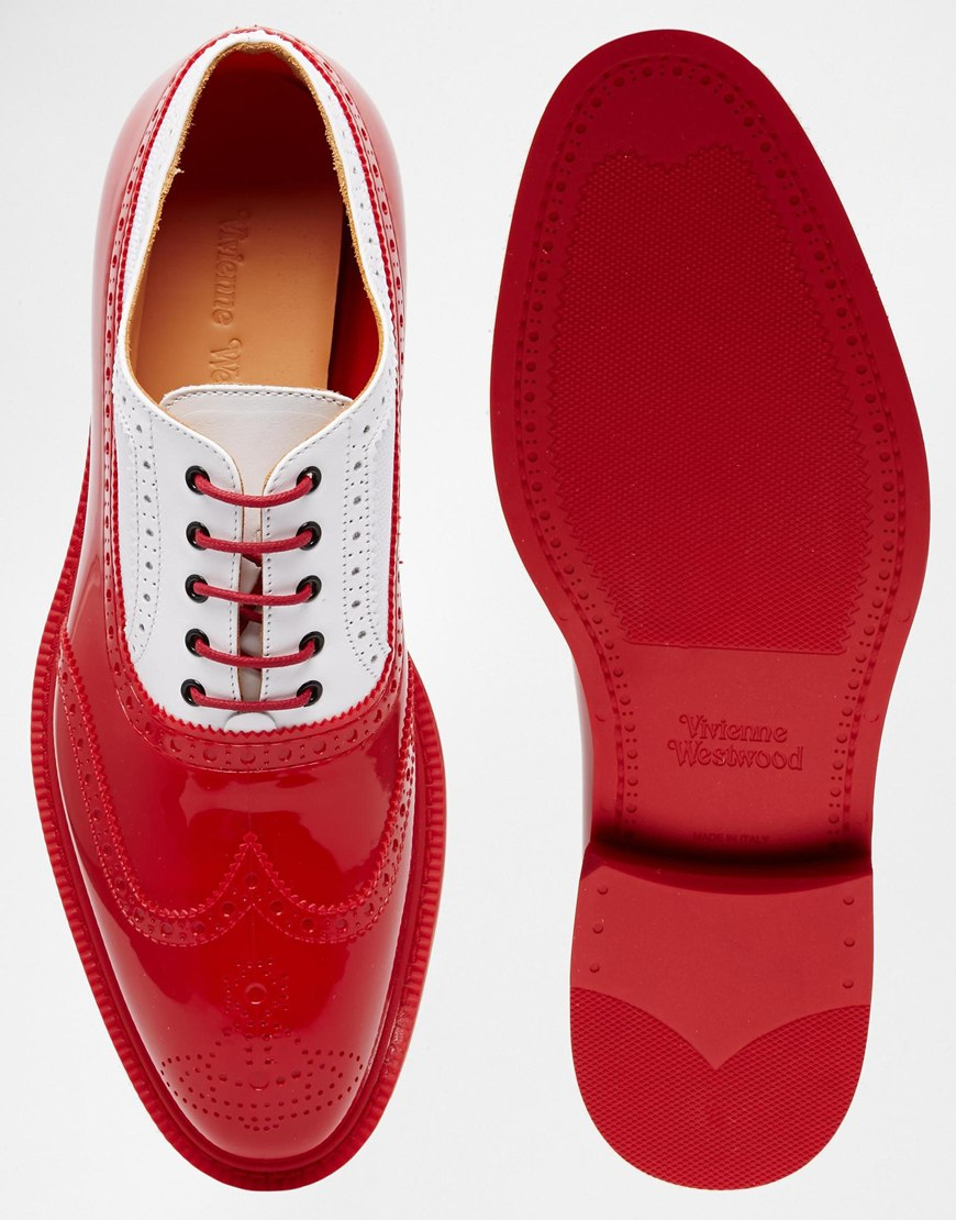 Lyst - Vivienne Westwood Brogue Shoes in Red for Men ca5b37dd4bfa