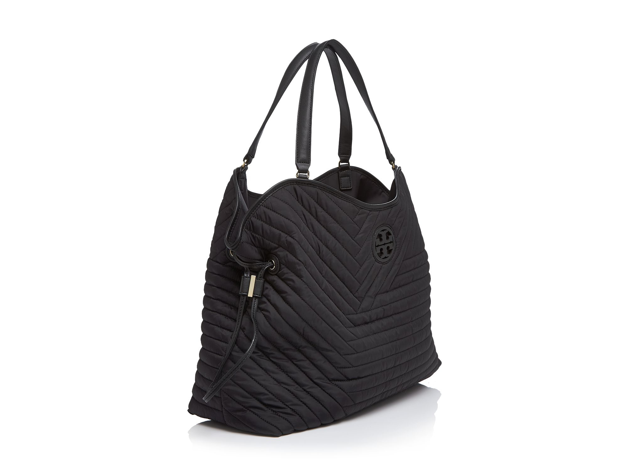 Tory Burch Quilted Nylon Tote In Black Lyst