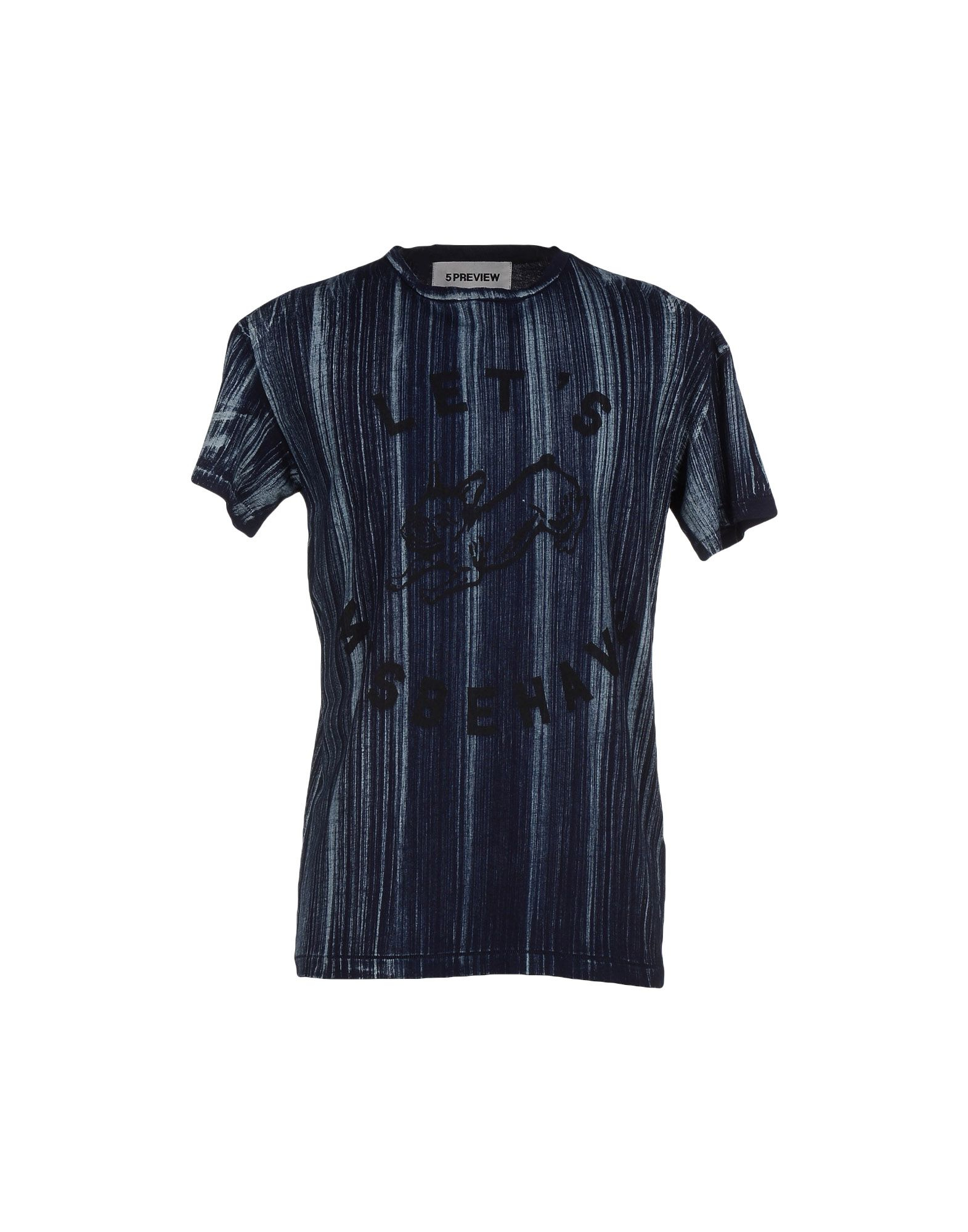 5preview t shirt in blue for men dark blue save 50 lyst for T shirt dark blue