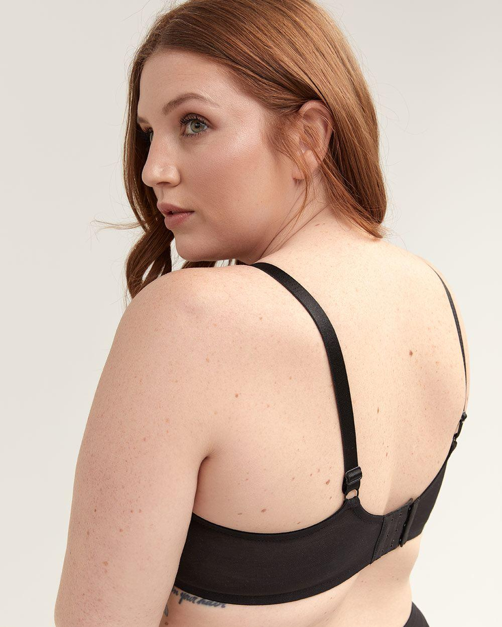 8a6d64737c481 Lyst - Addition Elle Balconette Bra With Contrasting Lace - Déesse  Collection in Black